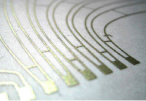 Printed electronics connect with label printers